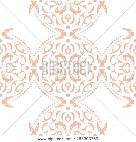 Damask seamless classic pattern. Vintage Baroque delicate background. Classic damask ornament for wallpapers textile fabric wrapping wedding invitation. a