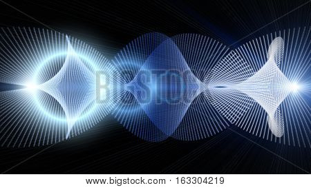 Futuristic Particle Background Design Illustration With Lights