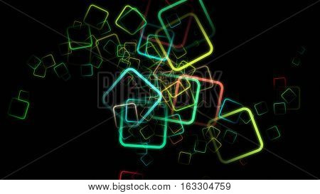 Futuristic Powerful Abstract Square Background Design Illustration