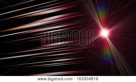 Futuristic Stripe Background Design With Glowing Lights