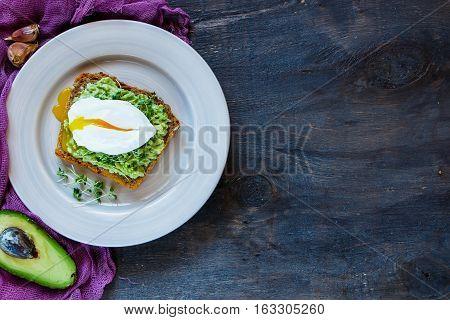 Plate With Avocado Sandwich