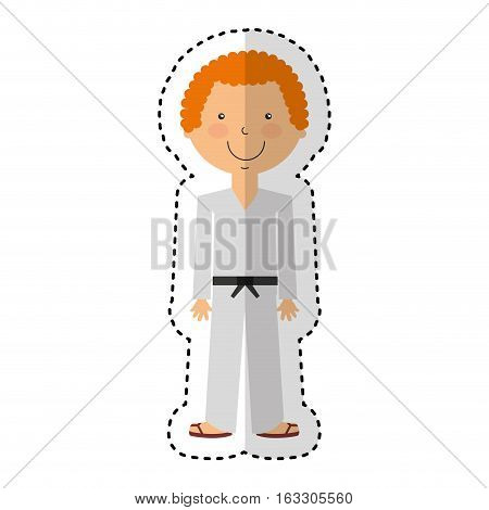 karateka avatar character icon vector illustration design