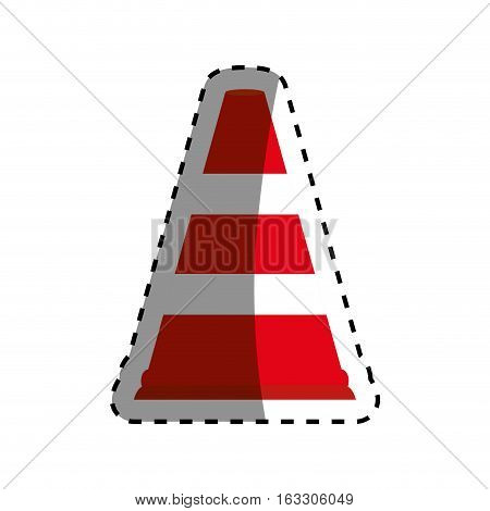 Traffic cone isolated icon vector illustration graphic design
