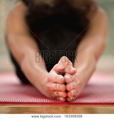 Half Tortoise Yoga Posture