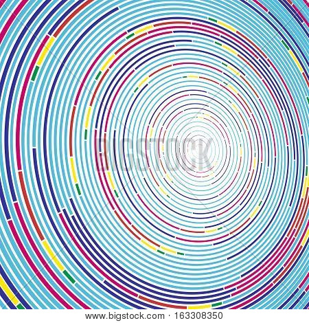 Vivid color abstract background in minimalist style made from colorful circles. Business concept for cover decoration of brochure, flyer or report.