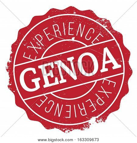 Genoa stamp. Grunge design with dust scratches. Effects can be easily removed for a clean, crisp look. Color is easily changed.