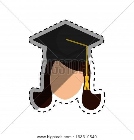 Young student graduation icon vector illustration graphic design