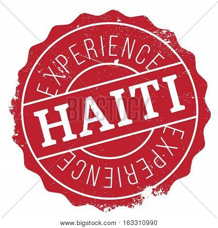 Haiti stamp. Grunge design with dust scratches. Effects can be easily removed for a clean, crisp look. Color is easily changed.