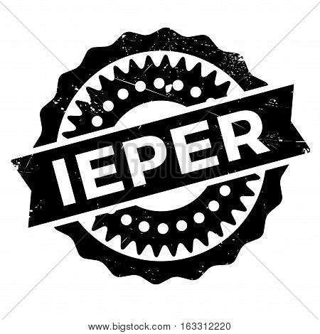 Ieper stamp. Grunge design with dust scratches. Effects can be easily removed for a clean, crisp look. Color is easily changed.