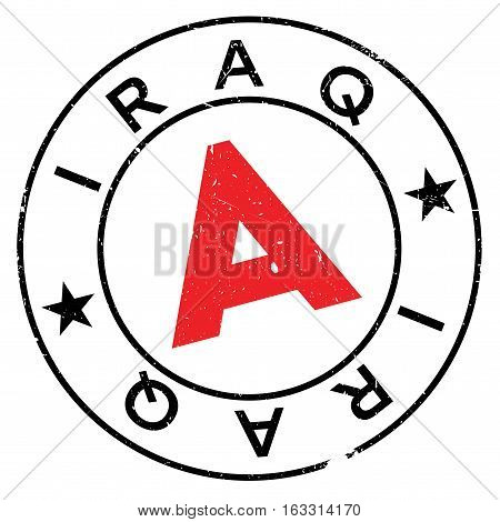 Iraq stamp. Grunge design with dust scratches. Effects can be easily removed for a clean, crisp look. Color is easily changed.
