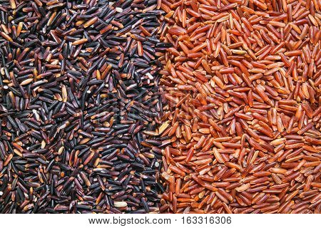 red black rice background, backdrop or texture