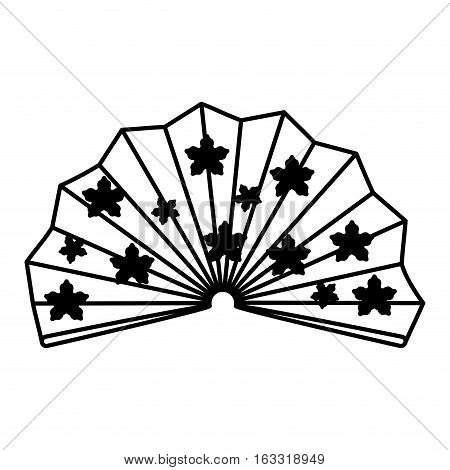 traditional japanese fan isolated vector illustration design