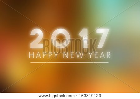 Happy New Year 2017 - greeting card