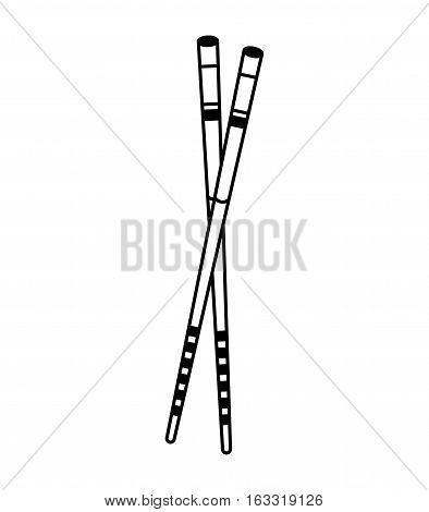 chopstick japanese isolated icon vector illustration design