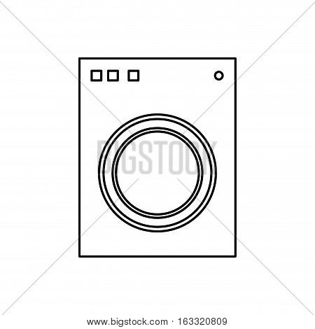 Washer laundry machine icon vector illustration graphic design