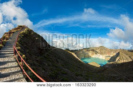 Viewpoint at Kelimutu Volcano Flores Island Indonesia