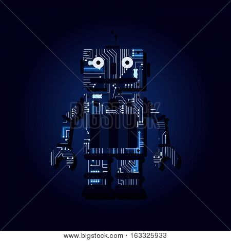 Electric Robot with a technological electronics circuit..