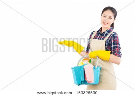 Cleaning Service With Presenting Gesture