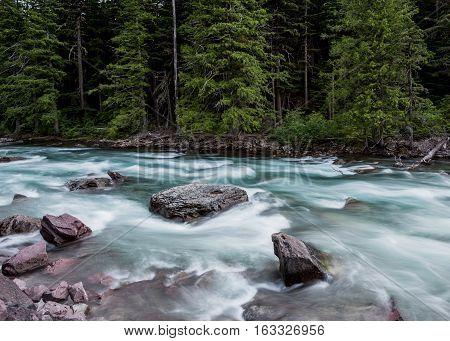 Rapids Below Mcdonald Falls