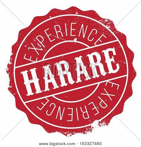 Harare stamp. Grunge design with dust scratches. Effects can be easily removed for a clean, crisp look. Color is easily changed.