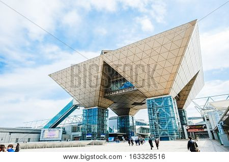 Tokyo, Japan - 5 March : Tokyo International Exhibition Center (Tokyo Big Sight) in Ariake Tokyo. the venue for the 2020 Summer Olympics at 5 March 2016
