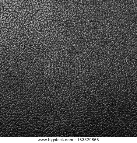 Black leather texture background for design with copy space for text or image.