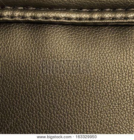 Deep yellow leather texture background for design with copy space for text or image.