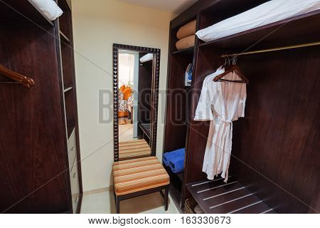 nice fragment of view of inside the closet with furniture and other objects