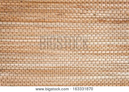 Close up texture of native thai style weave sedge mat background - made from papyrus