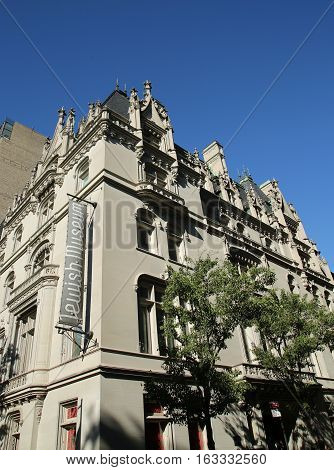 NEW YORK - JUNE 14, 2016: The Jewish Museum in Manhattan. The Jewish Museum is dedicated to the enjoyment, understanding, and preservation of the artistic and cultural heritage of the Jewish people