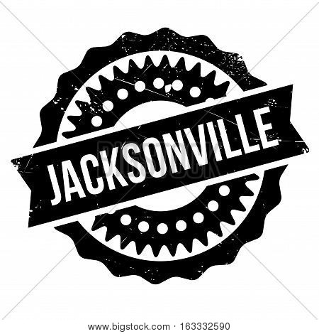 Jacksonville rubber stamp. Grunge design with dust scratches. Effects can be easily removed for a clean, crisp look. Color is easily changed.