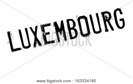 Luxembourg stamp. Grunge design with dust scratches. Effects can be easily removed for a clean, crisp look. Color is easily changed. rubber grunge