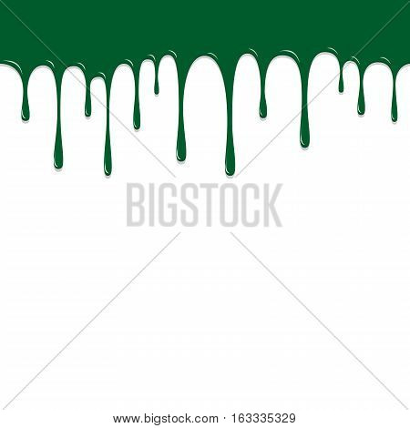 Paint Green Color Dropping, Color Droping Background Vector Illustration
