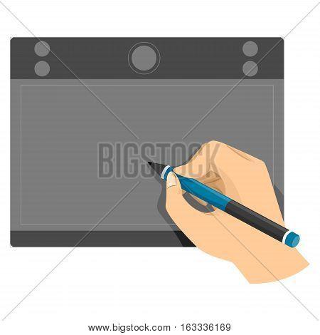 Vector Illustration of Hand using Pen tablet
