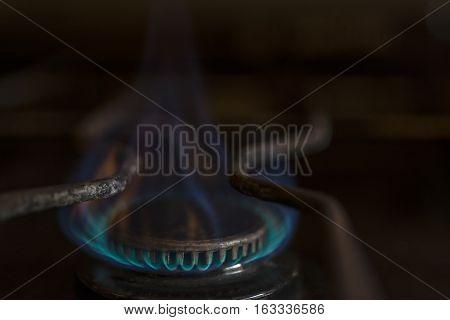 Blue Butane Gas Fire