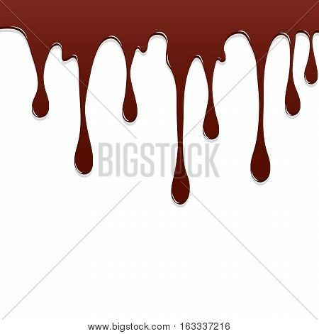 Paint Chocolate colorful dripping splatter Color splash or Dropping Background vector design