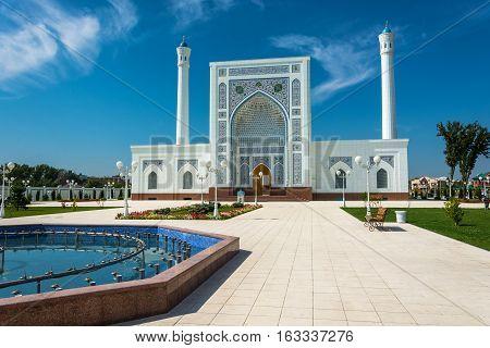 Minor White Mosque In Tashkent, Uzbekistan.