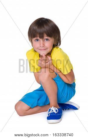 Smiling Little Boy In The Yellow Shirt