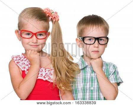Portrait Of Two Clever Children