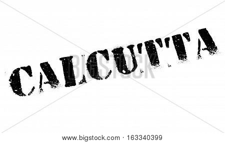 Calcutta stamp. Grunge design with dust scratches. Effects can be easily removed for a clean, crisp look. Color is easily changed.