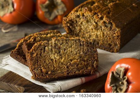 Homemade Sweet Persimmon And Nut Bread