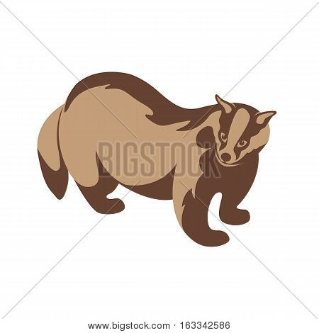 badger vector illustration style Flat side profile