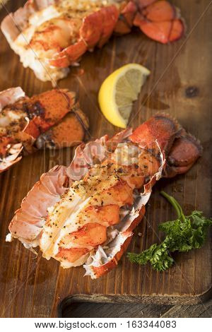 Seasoned Baked Lobster Tails