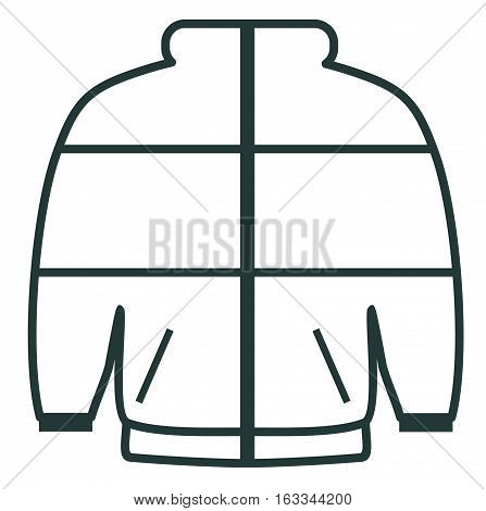 Line Icon Winter Sports Jackets. Sports Equipment.