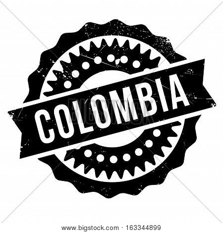 Colombia stamp. Grunge design with dust scratches. Effects can be easily removed for a clean, crisp look. Color is easily changed.