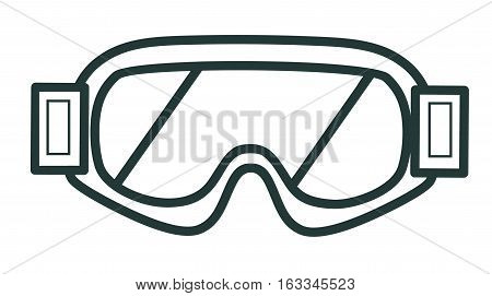 Line Icon Winter Glasses For Snowboarding. Sports Equipment.