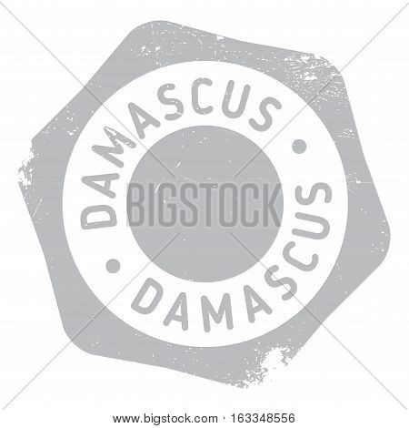 Damascus stamp. Grunge design with dust scratches. Effects can be easily removed for a clean, crisp look. Color is easily changed.