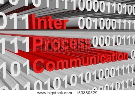 inter process communication in the form of binary code, 3D illustration