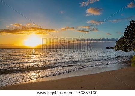 Idylic Sunset Over Indian Ocean, Madagascar