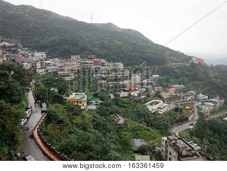 Hillside Houses In Jiufen, Taiwan